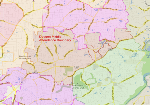 Dodgen Middle School Attendance Zone Map