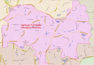 Hightower Trail Middle School Attendance Zone Map
