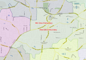 Mountain View Elementary Attendance Zone Map