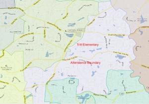 Tritt Elementary Attendance Zone Map